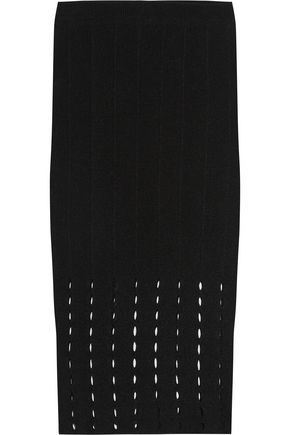 ALICE + OLIVIA Melanie pointelle-knit skirt