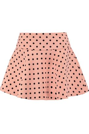 REDValentino Polka-dot coated-twill skirt