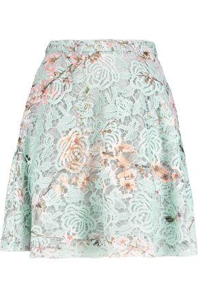 MSGM Macramé lace skirt