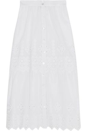 MIGUELINA Carolina crocheted cotton skirt