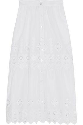 MIGUELINA Carolina crocheted cotton skirt