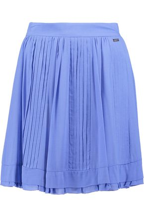 JUST CAVALLI Plissé-voile mini skirt