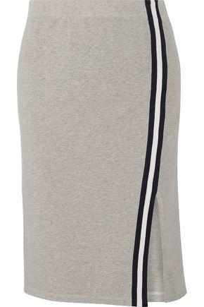 SPLENDID Varsity Active striped cotton and modal-blend jersey skirt