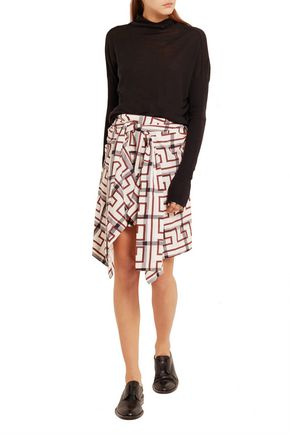 VIVIENNE WESTWOOD ANGLOMANIA Hope asymmetric printed cotton-blend mini skirt