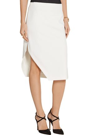 NARCISO RODRIGUEZ Asymmetric stretch-crepe skirt