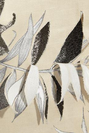 MAISON MARGIELA Floral-print cotton and linen-blend skirt