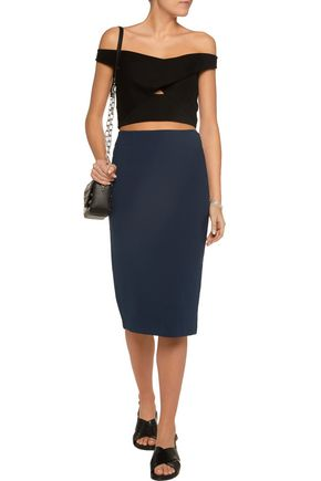 T by ALEXANDER WANG Stretch-ponte skirt