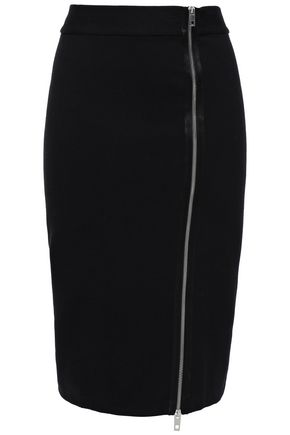 RAG & BONE Zip-detailed stretch-jersey skirt