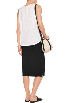MAJESTIC French Touch stretch-jersey midi skirt