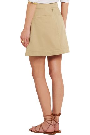 ROBERTO CAVALLI Stretch-cotton twill mini skirt