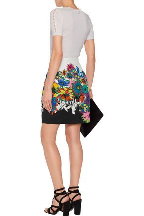 ROBERTO CAVALLI Printed twill mini skirt