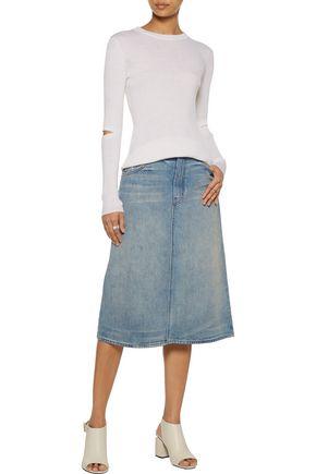 HELMUT LANG Distressed denim skirt