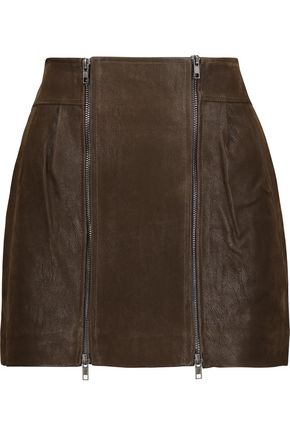 MELISSA ODABASH Dorian faux suede mini skirt