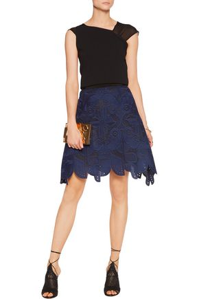 ANTONIO BERARDI Embroidered cotton skirt
