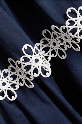 fb629733d34313 Kali tiered appliquéd cotton-blend poplin maxi skirt   ALEXIS   Sale ...
