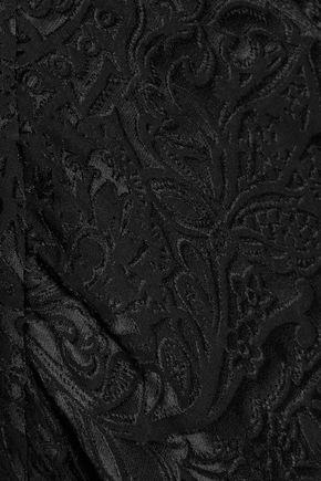 PREEN by THORNTON BREGAZZI Melba asymmetric tiered jacquard skirt