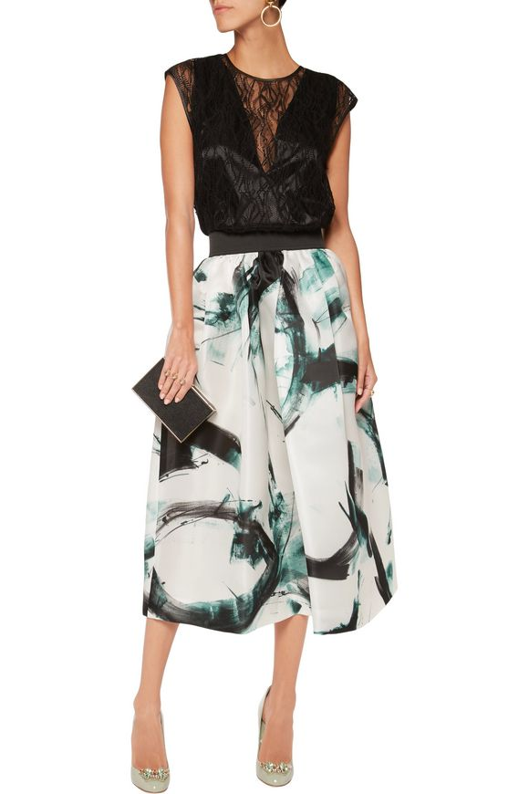 Printed silk-twill midi skirt | DOLCE & GABBANA | Sale up to 70% off | THE  OUTNET