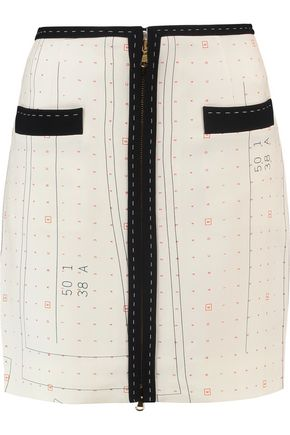 MOSCHINO Printed crepe mini skirt