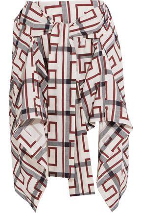 VIVIENNE WESTWOOD ANGLOMANIA Hope asymmetric printed cotton-blend mini skirt