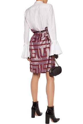 VIVIENNE WESTWOOD ANGLOMANIA Cristos pleated printed shantung skirt