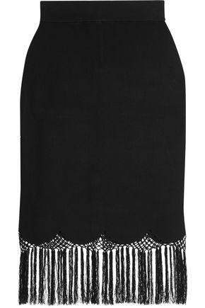 A.L.C. Fringed stretch-knit skirt