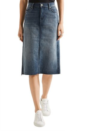 ... MOTHER Stretch-denim skirt ...