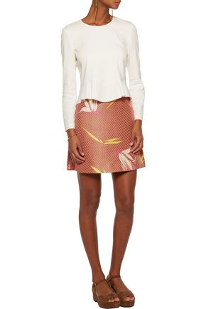 MARNI Printed raffia mini skirt