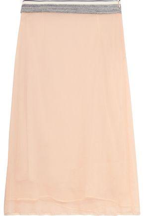 MARNI Silk-chiffon midi skirt