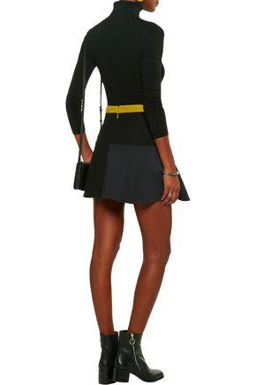 MARNI Color-block crepe mini skirt