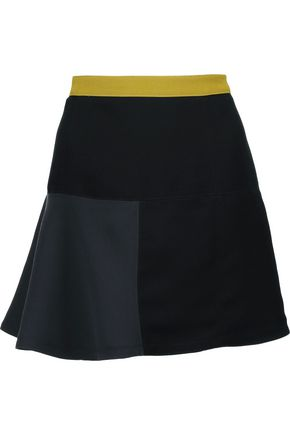 MARNI Color-block crepe mini skirt