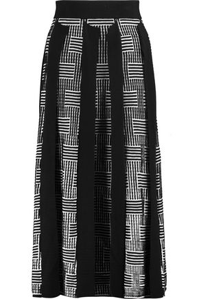 KENZO Silk and cotton-blend midi skirt