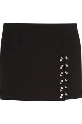 VERSUS VERSACE Embellished crepe mini skirt