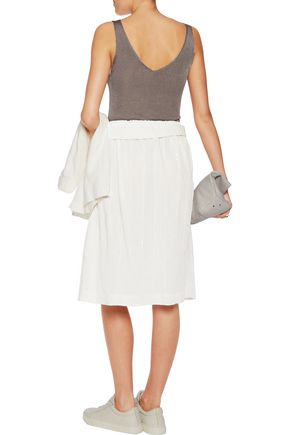 BRUNELLO CUCINELLI Sequin-embellished cotton-blend skirt