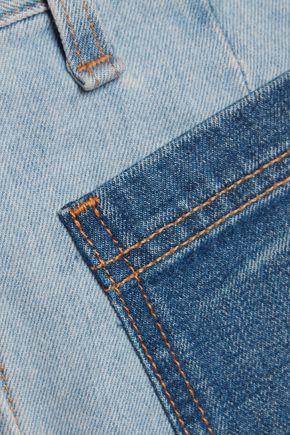 RAG & BONE Santa Cruz two-tone denim mini skirt