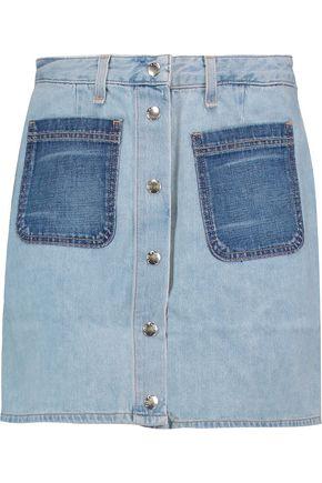 RAG & BONE/JEAN Santa Cruz two-tone denim mini skirt