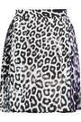 JUST CAVALLI Pleated leopard-print twill skirt