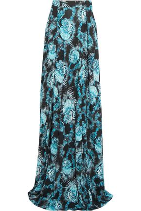 JUST CAVALLI Printed knitted maxi skirt