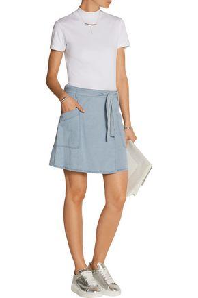 MM6 by MAISON MARGIELA Denim wrap mini skirt