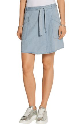 MM6 MAISON MARGIELA Denim wrap mini skirt