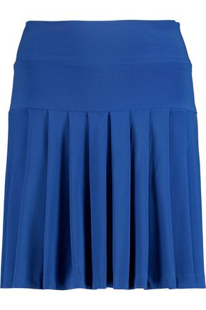 NORMA KAMALI Pleated stretch-jersey mini skirt