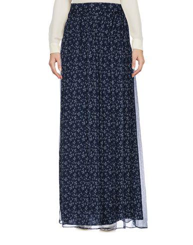 Купить Длинная юбка темно-синего цвета