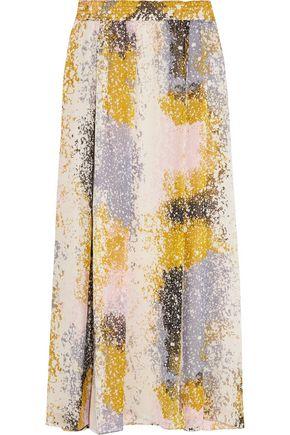 DIANE VON FURSTENBERG Printed silk-chiffon maxi skirt