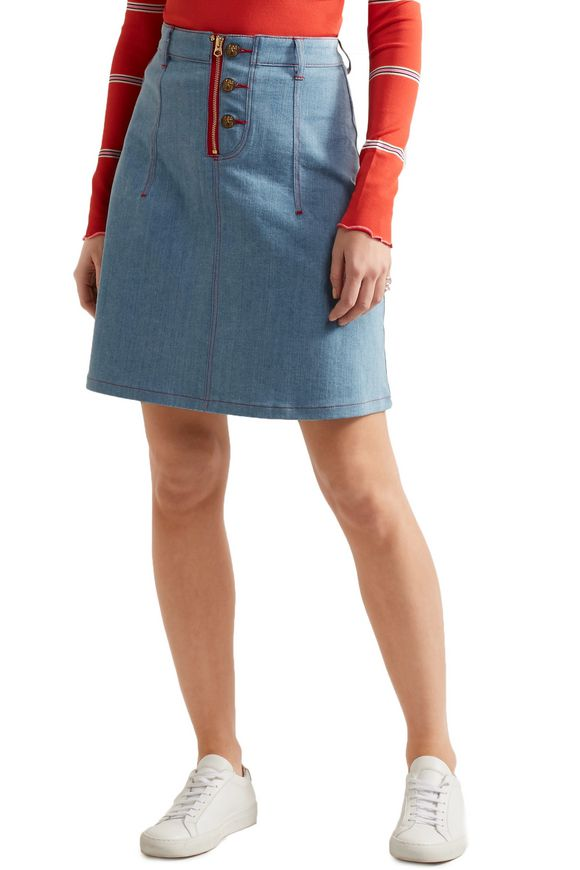 + Lee appliquéd denim mini skirt | HOUSE OF HOLLAND | Sale up to 70% off |  THE OUTNET
