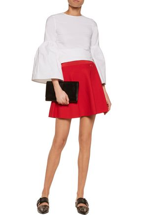 LOVE MOSCHINO Embellished stretch-knit mini skirt