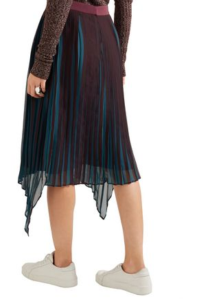 BY MALENE BIRGER Wikk pleated asymmetric georgette skirt