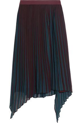 BY MALENE BIRGER Wikk pleated asymmetric georgette skirt
