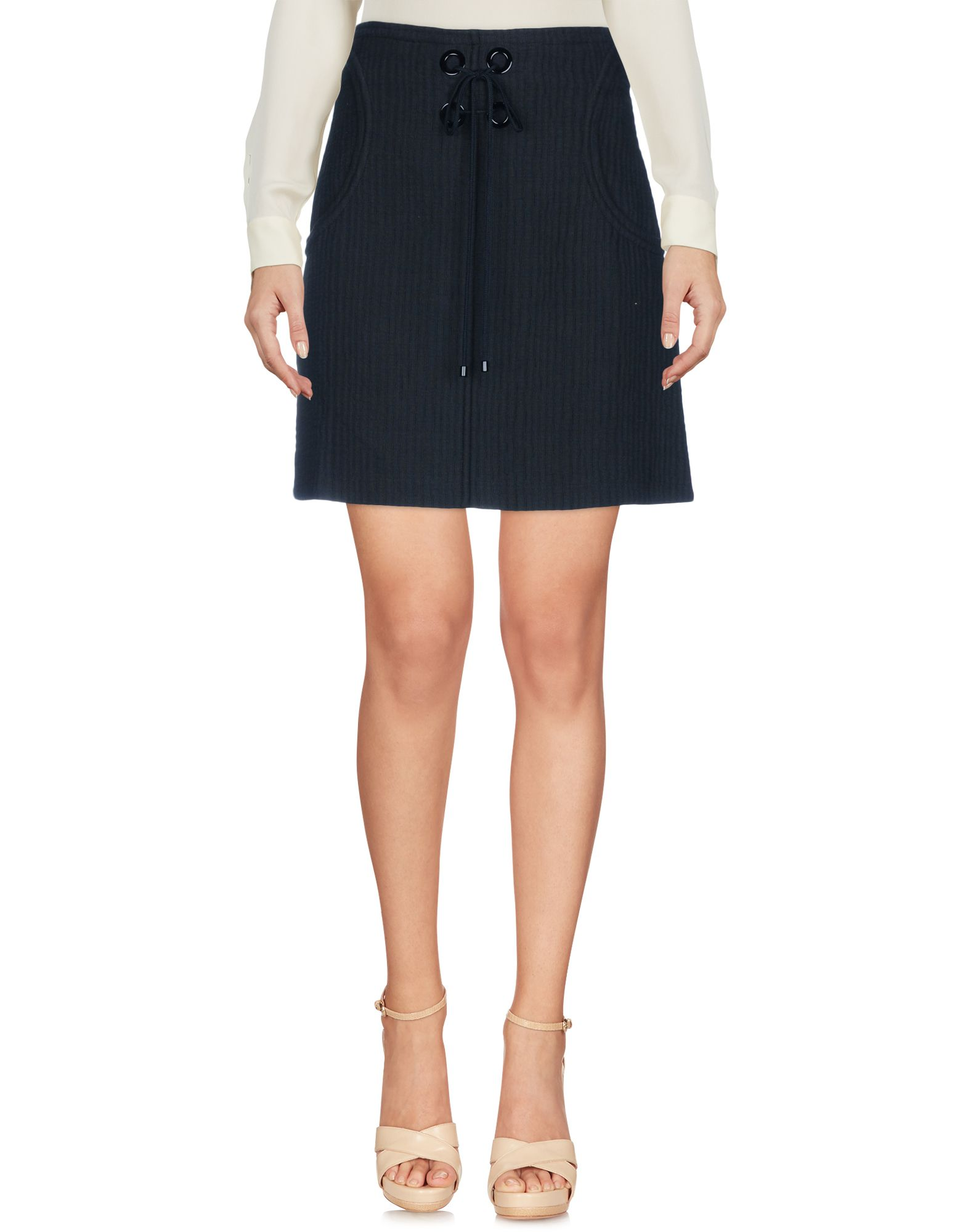 《送料無料》VANESSA BRUNO レディース ひざ丈スカート ブラック 38 コットン 100%