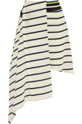 PREEN by THORNTON BREGAZZI Turkana striped silk crepe de chine skirt