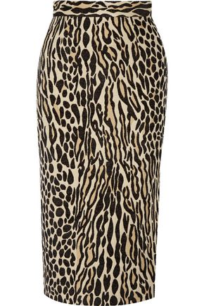 BY MALENE BIRGER Algras leopard-jacquard pencil skirt