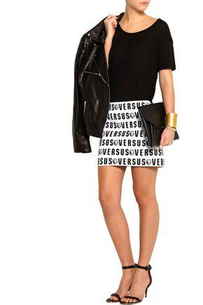 VERSUS Intarsia bandage mini skirt